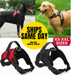 No Pull Dog Pet Harness Adjustable Control Vest Dogs Reflective XS S M Large XXL $7.95