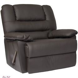 Recliner Chair Rocking Deluxe Padded PU Leather Relaxing Home Garden Furniture