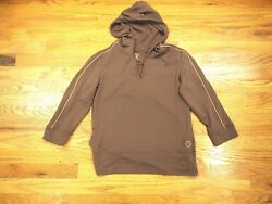 She Beest Brown Pullover~Long Sleeve~Hood~Size M~Brown~Workout Clothing