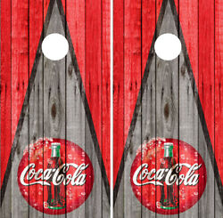 Coca Cola Cornhole Decals Coke Vinyl Wraps Board Decals Bag Toss Game Sticker