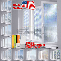 Premium Window Frosted Film Glass Home Office Bathroom Security Privacy Static $18.88