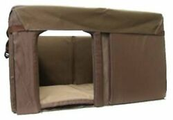 Durable Two-Layer Canvas Cove Log Cabin Style Dog House Insulation KitSmall