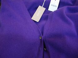 [NEW] J CREW CASHMERE CARDIGAN Italian Yarn - PURPLE - Size Small