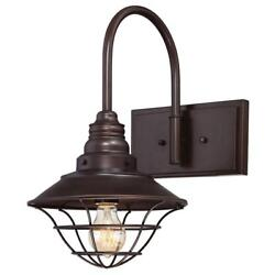 Westinghouse Light Interior Oil Rubbed Bronze Wall Fixture with Metal Lantern