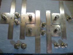7 Prs Original Reclaimed  Art Deco Brass Copper  Bronze Door Knobs 0138