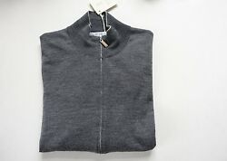 BRUNELLO CUCINELLI Men Loro Soft CASHMERE WOOL Piana Cardigan 46 ITALY Sweater