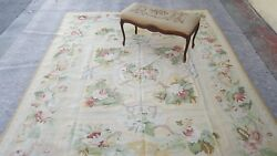 Michaelian & Kohlberg 8 x 10  Authentic Wool Aubusson weave hand woven used