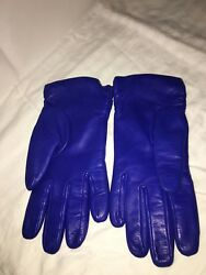 New GUDER Gloves Leather Cashmere Black Luxury ITALY Size 7.5