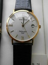 BEAUTIFUL  9CT  SOLID   GOLD   SOVERIGN   WATCH   BRAND NEW