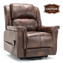 ComHoma  Living Room Sofa Recliner Luxurious Leather Couch Easy Care for Elderly