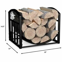 Log Holder Storage Rack Firewood Decorative Metal Fireplace Home Indoor Outdoor