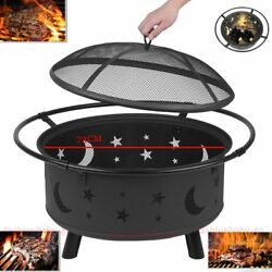Fireplace Backyard Wood Burning Heater Steel Bowl Star Patio Fire Pit Outdoor BR