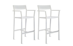 Eos Barstool White - SET OF 2 - DWR Exclusive Design Within Reach Outdoor