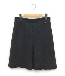 CHANEL Boiled wool Skirt Gray Used