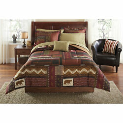 Full Size 8Pc Comforter Set Rustic Bedding Sheet Southwest Cabin Bear Lodge New