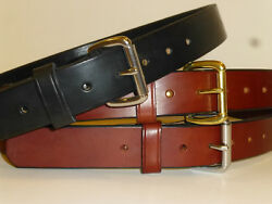 AMISH STYLE ENGLISH BRIDLE LEATHER GUN BELT! 1-12