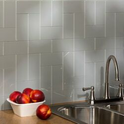 Aspect Peel and Stick Backsplash Kit Steel Glass Tile for Kitchen and Bathrooms