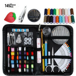 Professional Tailor Kit Travel Sewing Kit Held Mini Supplies Beginners 145 Piece