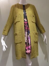 Authentic Vintage CHANEL from 1994 Tweed No Collar Coat