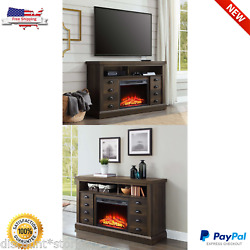 Electric Fireplace Television Stand TV Media Console Heater Center Storage 70 In