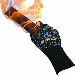 BlueFire Pro Oven Gloves BBQ – Grilling Big Green Egg & Fireplace Accessories.