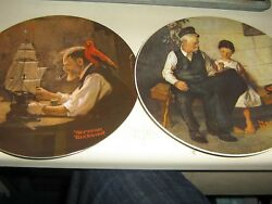 Lot of 6 Norman Rockwell plates Believe in the mirror young girls dream ETC