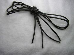 Waxed Polyester Round Shoe Boot Laces Unisex Shoelace 5 colors 10 sizes  ~Q80 $4.89