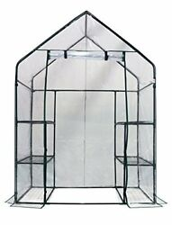 3 Tier 6 Shelf Walk In Green House Replacement Cover Clear Color NEW