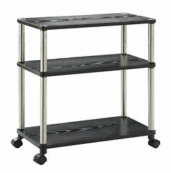 Small Computer Desk Table Stand Workstation Laptop Printer Cart Rolling Office $69.99