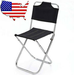 (US) Portable Chairs Outdoor Fishing Folding Garden Picnic Camping Aluminum