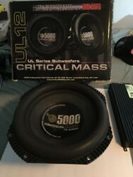 CRITICAL MASS UL12 THE BEST SUBWOOFER 12'' SUB Lightly Used With Og Box