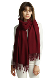 Womens Large Soft Cashmere Feel Pashmina Shawls Wraps Light Scarf Cozy and Warm