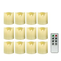 12 Pack Flameless LED Battery Operated Votive Candles with Timer Remote $20.99