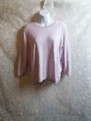 laura ashley lilac purple jumper sweater size 18 button down back