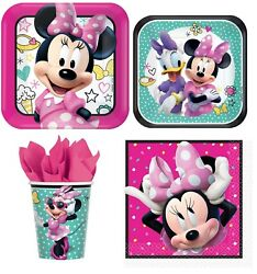 Minnie Mouse Party Express Pack for 8 Guests Cups Napkins amp; Plates $16.99