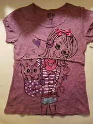 Fifth Sun Girls Top Size L 10 12 NWT Purple $10.39