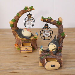 New Totoro Lamp LED Night Light ABS Reading Table Desk Lamps Grafts Gift Model $15.41