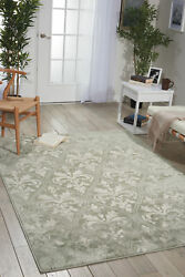 Nourison Euphoria Grey Rectangle Area Rug 5'3