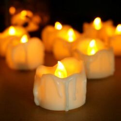 6 PCS Flameless Flicker LED Battery Operated Light Drips Candles with Timer $11.99