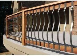 Deck Rail 32-14 in. x 1 in. Black Aluminum Contour Baluster (14-Pack) Decking
