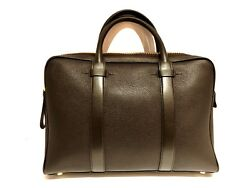 Tom Ford Buckley Briefcase Brown Leather Laptop Bag - New with tags