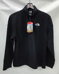 North Face Mens TKA 100 Glacier 14 Zip Pullover C744 TNF Black Size Small
