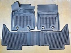 Toyota Tacoma 2018-20 AT Double Cab All Weather Rubber Floor Liner Mat OEM NEW