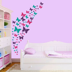Butterfly Wall Decals Purple Pink amp; Turquoise Set. DIY Room Decoration. $15.99