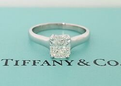 1.08 ct Tiffany & Co. Platinum Lucida Diamond Solitaire Engagement Ring I  VVS1
