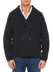 ROBERT GRAHAM MALLEY MENS CHARCOAL GRAY CASHMERE LMT ED BUTTON SWEATER $1998 NWT