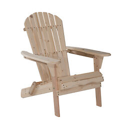 InOutdoor Adirondack Wood Chair Foldable Patio Lawn Garden Furniture WPlans