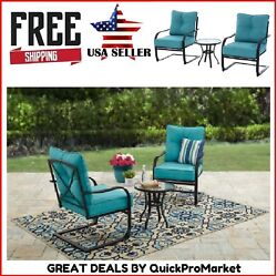3 Piece Outdoor Patio Bistro Set Backyard Seats Chairs Table Garden Furniture