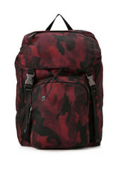 Pre-Owned Prada Tessuto Camouflage Backpack  (Multicolor Prints Red; Nylon)