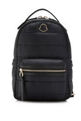 Moncler New Georgette Backpack (Black; Nylon Nappa Leather)